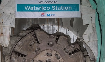 Waterloo Station tunnel breakthrough