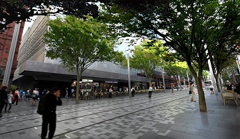Artist impression of George St south pedestrian boulevard