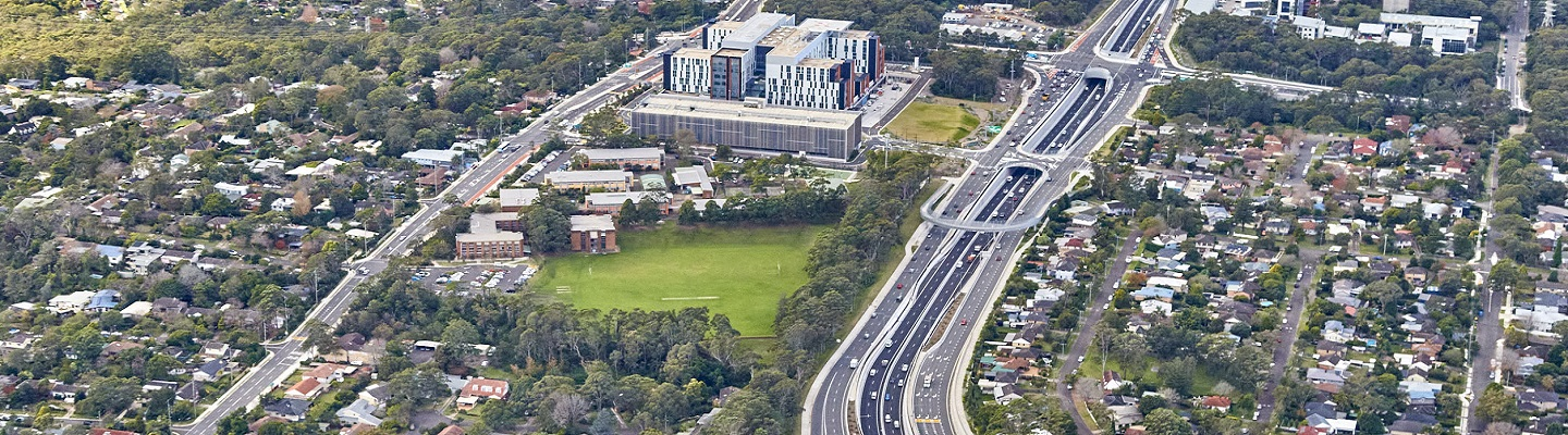 Major construction to upgrade roads around the new Northern Beaches Hospital have now been completed.