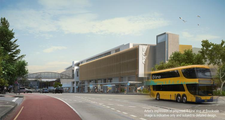Artist's impression of proposed B-line stop at Brookvale.